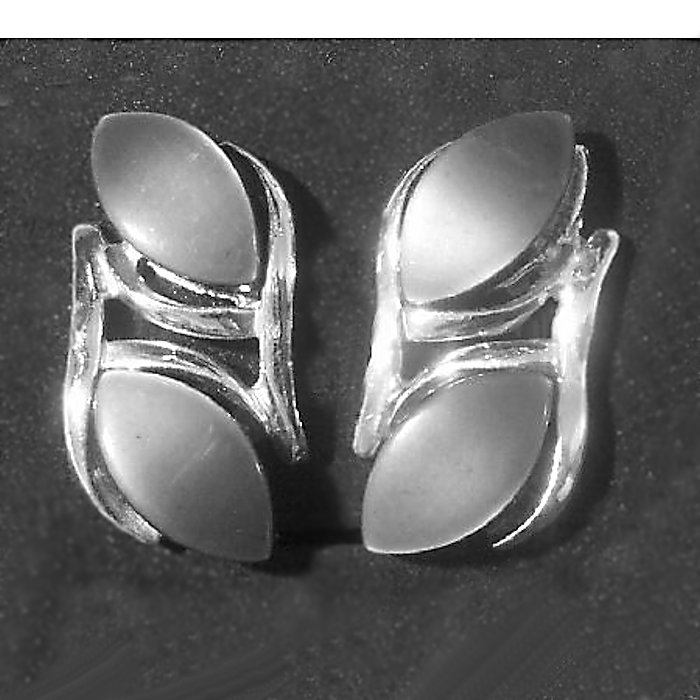 Double Grey Thermoset Earrings