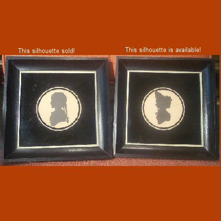 Black Silhouette Pictures with Reverse Painted Frames